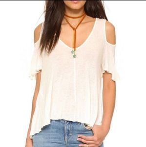 New! Free People Bittersweet Cold Shoulder Ivory S